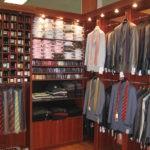 Стеллажи для деловой одежды