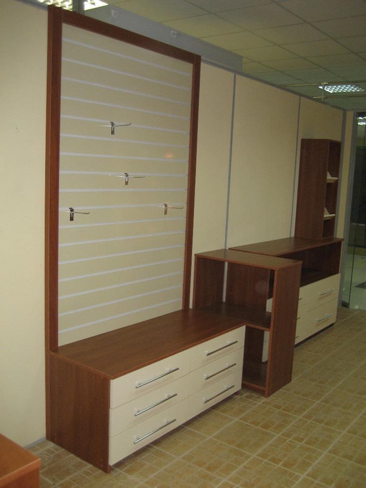 Мебель для магазинов с выдвижными ящиками