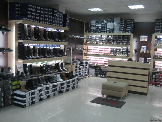 Оборудование для магазина с обувью