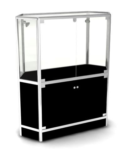 Витрина квадратная со шкафчиком